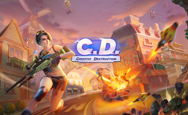 Creative Destruction: A Sandbox Survival Game on Mobile